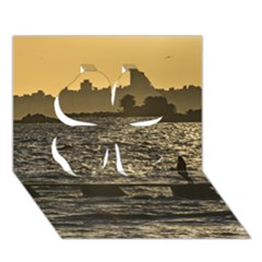 River Plater River Scene At Montevideo Clover 3D Greeting Card (7x5)