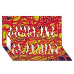 Orange neon Congrats Graduate 3D Greeting Card (8x4)