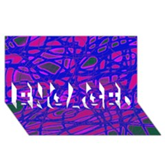 Blue ENGAGED 3D Greeting Card (8x4)