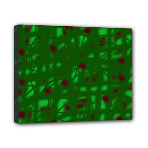 Green  Canvas 10  x 8