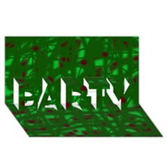 Green  PARTY 3D Greeting Card (8x4)