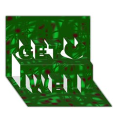 Green  Get Well 3D Greeting Card (7x5)