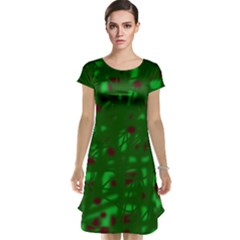 Green  Cap Sleeve Nightdress