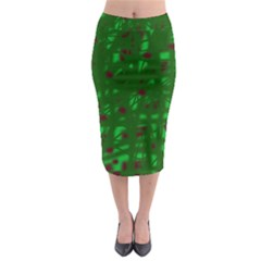 Green  Midi Pencil Skirt