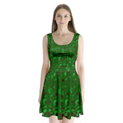Green  Split Back Mini Dress
