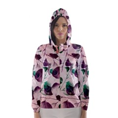 Spiral Eucalyptus Leaves Hooded Wind Breaker (Women)