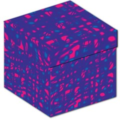 Blue and pink neon Storage Stool 12