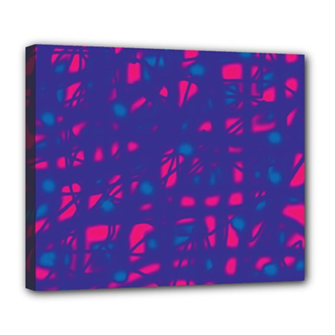 Blue and pink neon Deluxe Canvas 24  x 20