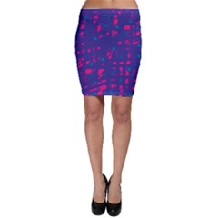 Blue and pink neon Bodycon Skirt