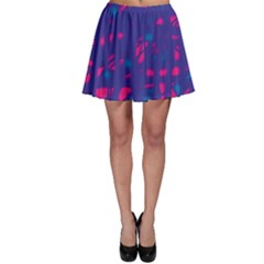 Blue and pink neon Skater Skirt