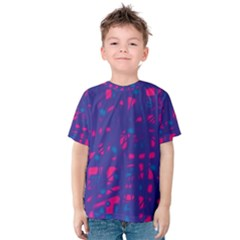 Blue And Pink Neon Kid s Cotton Tee