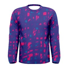 Blue and pink neon Men s Long Sleeve Tee