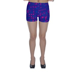 Blue and pink neon Skinny Shorts