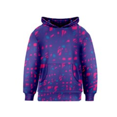 Blue and pink neon Kids  Pullover Hoodie