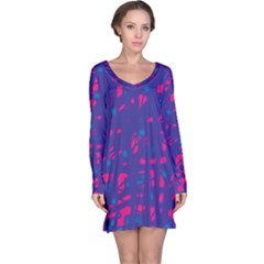 Blue and pink neon Long Sleeve Nightdress