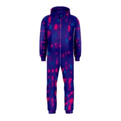 Blue and pink neon Hooded Jumpsuit (Kids)