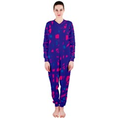 Blue and pink neon OnePiece Jumpsuit (Ladies)