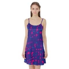 Blue and pink neon Satin Night Slip