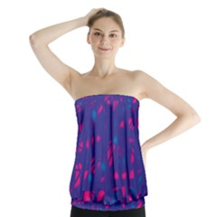 Blue and pink neon Strapless Top
