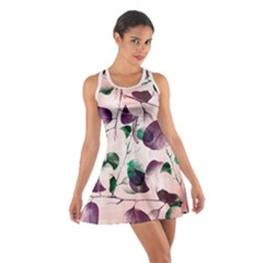 Spiral Eucalyptus Leaves Cotton Racerback Dress