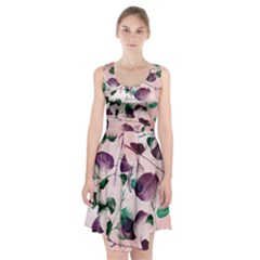 Spiral Eucalyptus Leaves Racerback Midi Dress
