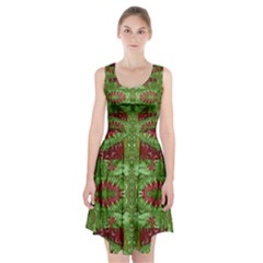 Bleeding Hearts Forest Racerback Midi Dress