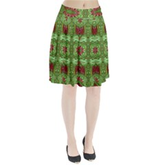 Bleeding Hearts Forest Pleated Skirt