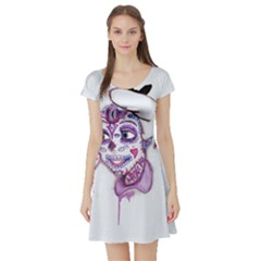 Alice Sugar Skull Short Sleeve Skater Dress