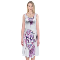 Alice Sugar Skull Midi Sleeveless Dress