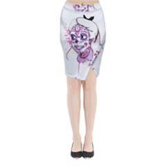 Alice Sugar Skull Midi Wrap Pencil Skirt