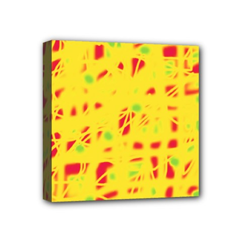 Yellow and red Mini Canvas 4  x 4