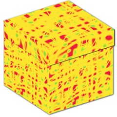 Yellow and red Storage Stool 12