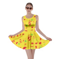 Yellow and red Skater Dress