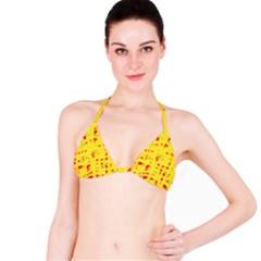 Yellow and red Bikini Top