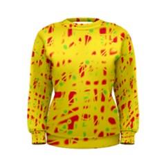 Yellow and red Women s Sweatshirt