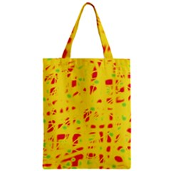 Yellow and red Zipper Classic Tote Bag