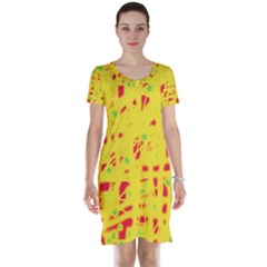 Yellow and red Short Sleeve Nightdress
