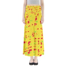 Yellow and red Maxi Skirts