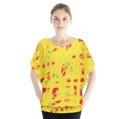 Yellow and red Blouse
