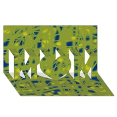 Green and blue MOM 3D Greeting Card (8x4)