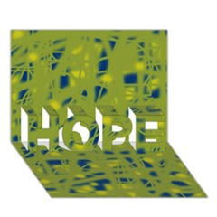Green and blue HOPE 3D Greeting Card (7x5)