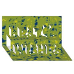 Green and blue Best Wish 3D Greeting Card (8x4)