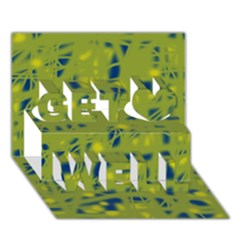 Green and blue Get Well 3D Greeting Card (7x5)
