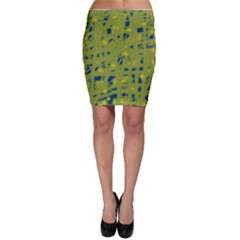 Green and blue Bodycon Skirt