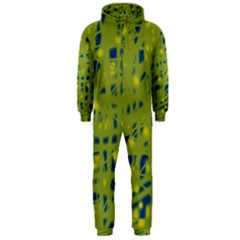 Green and blue Hooded Jumpsuit (Men)