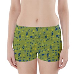 Green And Blue Boyleg Bikini Wrap Bottoms