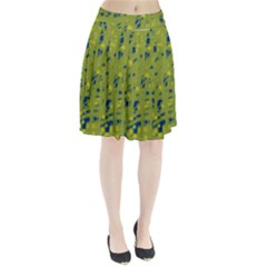 Green And Blue Pleated Skirt