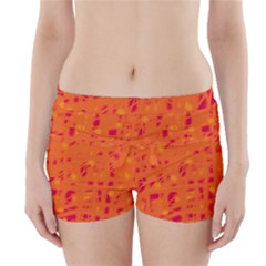 Orange Boyleg Bikini Wrap Bottoms