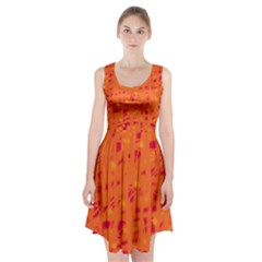 Orange Racerback Midi Dress