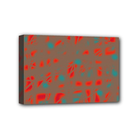 Red and brown Mini Canvas 6  x 4